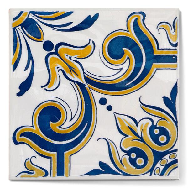 Azulejo artesanal hecho totalmente a mano