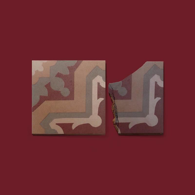 Pavimento hidráulico duplicado en azulejo cerámico