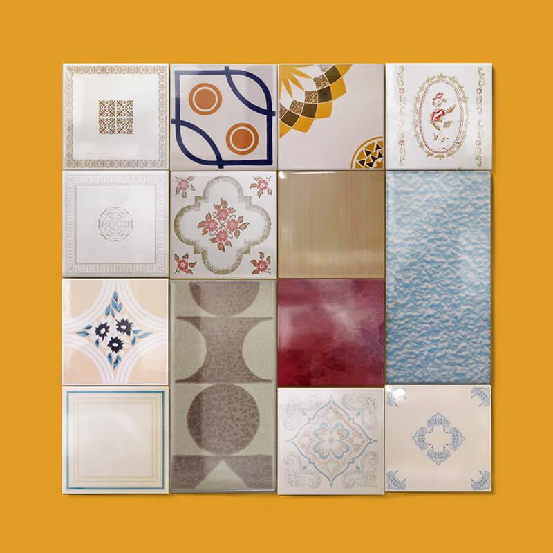 Azulejos y baldosas duplicadas y copiadas de varios formatos